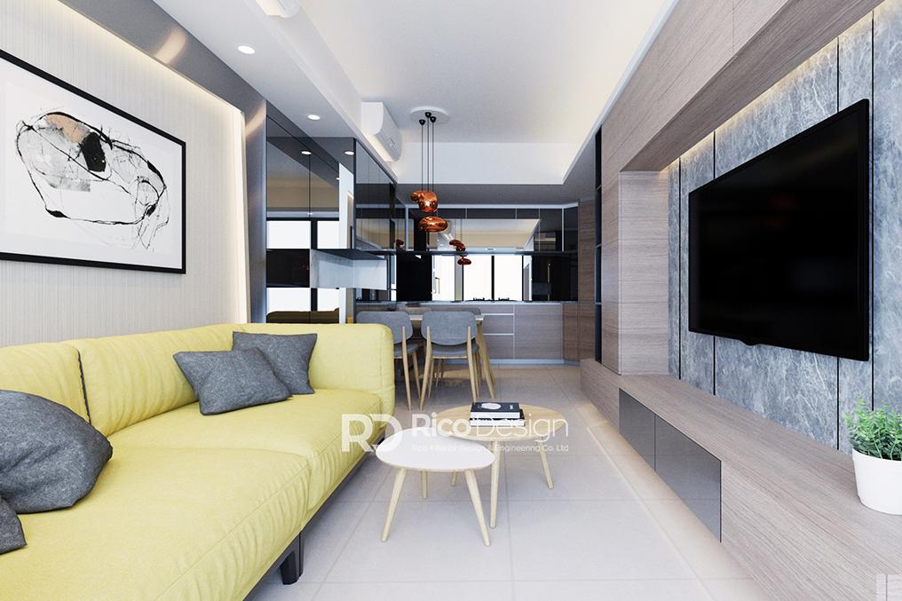海之戀客廳室內設計1